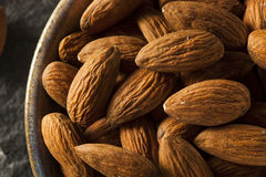 Raw Organic Brown Almonds Royalty Free Stock Image