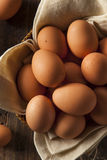 Raw Organic Brown Eggs Royalty Free Stock Images