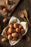 Raw Organic Brown Eggs Royalty Free Stock Photography