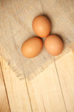 Raw Organic Brown Eggs Stock Images