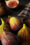 Raw Organic Brown Figs. In a Bowl Royalty Free Stock Photos