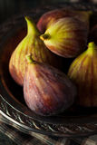 Raw Organic Brown Figs. In a Bowl Stock Image