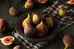 Raw Organic Brown Figs. In a Bowl Royalty Free Stock Photo