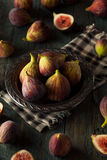 Raw Organic Brown Figs. In a Bowl Stock Photography