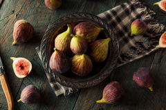 Raw Organic Brown Figs Stock Photos
