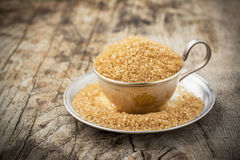 Raw Organic Cane Sugar in a Bowl Royalty Free Stock Photo