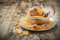 Raw Organic Cane Sugar in a Bowl Stock Photography