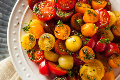 Raw Organic Cherry Tomato Salad Royalty Free Stock Photo