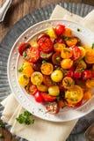 Raw Organic Cherry Tomato Salad Royalty Free Stock Image