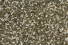 Raw Organic Chia Seeds. Top view of chia seeds. Can be used as background. The people of the ancient Aztec and Incan empires revered chia seeds as viral stock photo