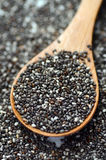 Raw organic chia seeds Royalty Free Stock Photos