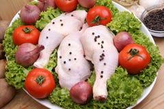 Raw organic chicken drumstick Royalty Free Stock Image