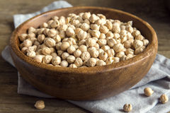 Raw organic chickpeas Royalty Free Stock Image
