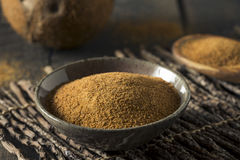 Raw Organic Coconut Palm Sugar Stock Photography
