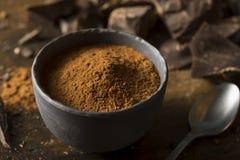 Raw Organic Dark Chocolate Cocoa Powder Stock Image