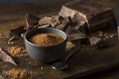 Raw Organic Dark Chocolate Cocoa Powder Royalty Free Stock Image