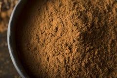 Raw Organic Dark Chocolate Cocoa Powder Royalty Free Stock Photo