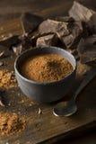 Raw Organic Dark Chocolate Cocoa Powder Royalty Free Stock Photos