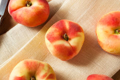 Raw Organic Donut Saturn Peaches Royalty Free Stock Photography
