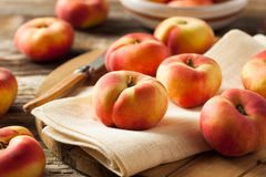 Raw Organic Donut Saturn Peaches Royalty Free Stock Photo