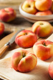 Raw Organic Donut Saturn Peaches Royalty Free Stock Images