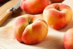 Raw Organic Donut Saturn Peaches Stock Image