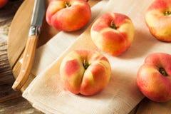 Raw Organic Donut Saturn Peaches Stock Photo