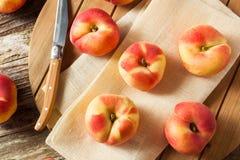 Raw Organic Donut Saturn Peaches Stock Photography