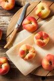 Raw Organic Donut Saturn Peaches Stock Photos
