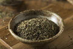 Raw Organic Dry Basil Seasoning Stock Photos