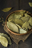 Raw Organic Dry Bay Leaves Royalty Free Stock Image