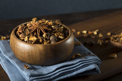 Raw Organic Dry Mulling Spices Stock Photos