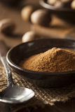 Raw Organic Dry Nutmeg Stock Images