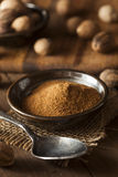 Raw Organic Dry Nutmeg Royalty Free Stock Photography