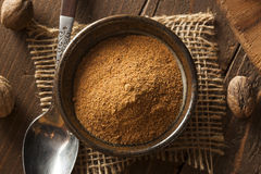 Raw Organic Dry Nutmeg Stock Photos