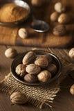 Raw Organic Dry Nutmeg Stock Photo
