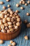 Raw Organic Garbanzo Beans Stock Image