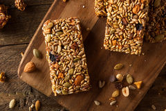 Raw Organic Granola Bars Stock Images
