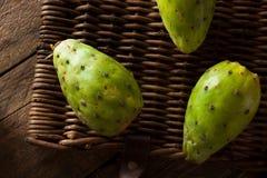 Raw Organic Green Cactus Pears Stock Image
