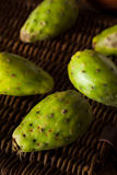 Raw Organic Green Cactus Pears Stock Photos