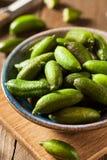 Raw Organic Green Finger Limes Stock Photo