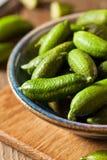 Raw Organic Green Finger Limes Stock Photos