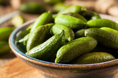 Raw Organic Green Finger Limes. Ready for Eating Royalty Free Stock Photo