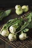 Raw Organic Green Kohlrabi. In a Bunch Stock Photography