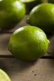 Raw Organic Green Limes Stock Image