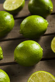 Raw Organic Green Limes Royalty Free Stock Photography