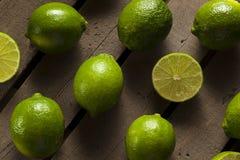 Raw Organic Green Limes Royalty Free Stock Photo