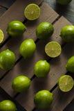 Raw Organic Green Limes Royalty Free Stock Photos
