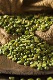 Raw Organic Green Split Peas Royalty Free Stock Photo