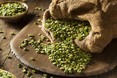 Raw Organic Green Split Peas Royalty Free Stock Photography
